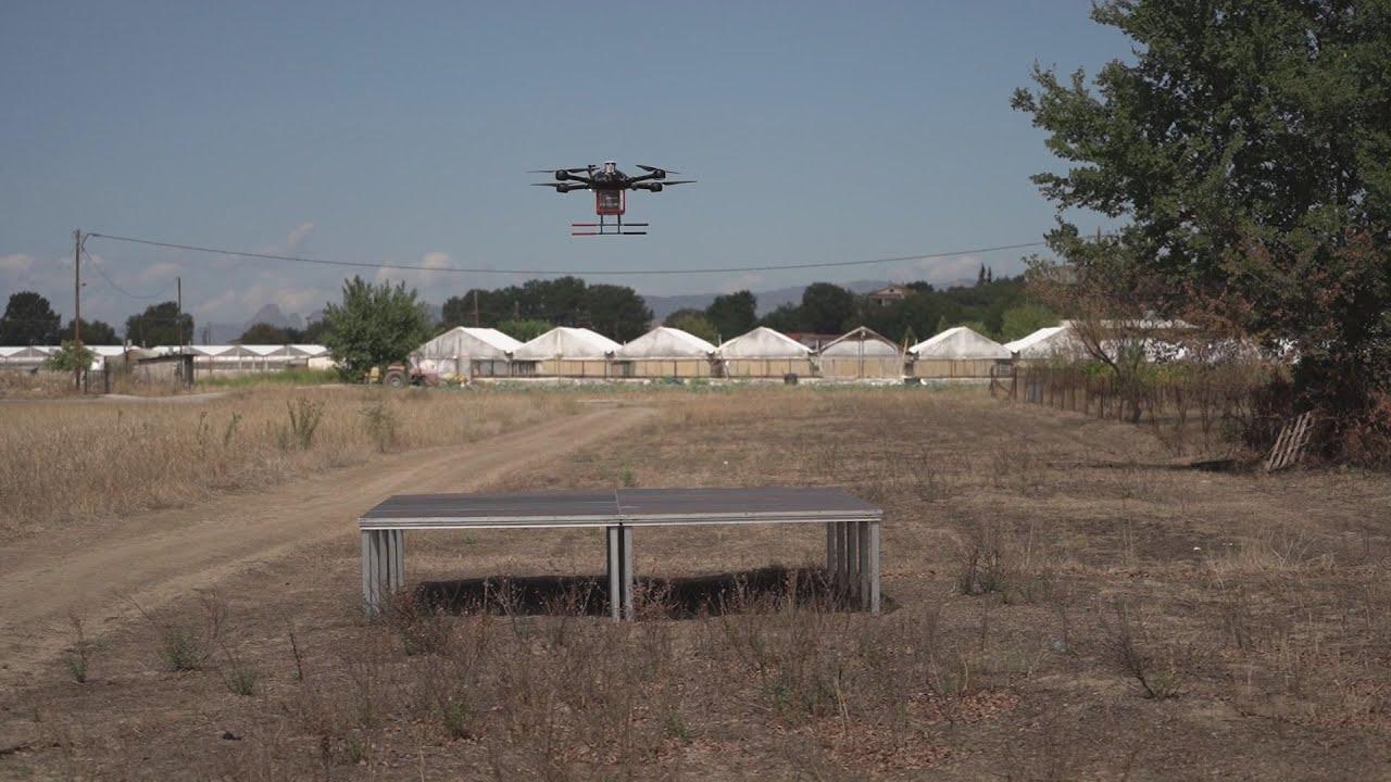 Τρίκαλα: Με drone η μεταφορά φαρμάκων στα χωριά