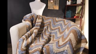 Crochet Chevron Afghan Pattern Tutorial