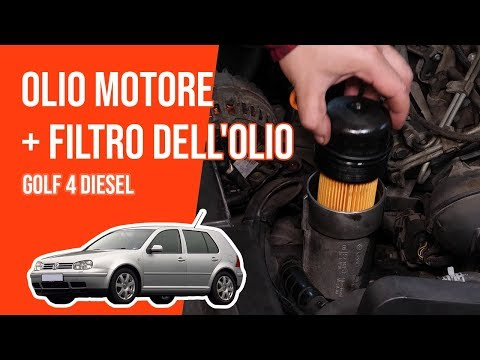 Cambio olio motore e filtro dell'olio GOLF 4 1.9 TDI🛢