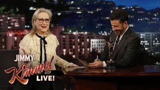 Meryl Streep Fails Oscar Quiz About Herself