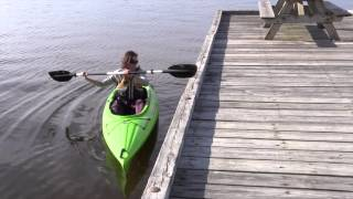 How to launch a kayak from a high dock