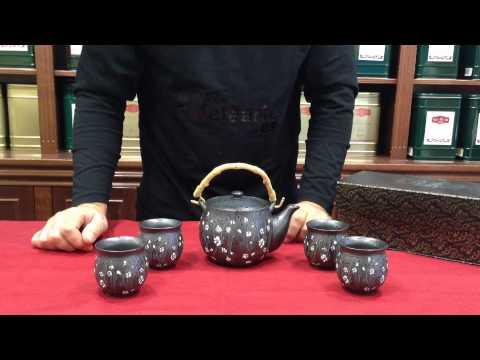 Juego de Té modelo Moli, compuesto por tetera y 4 cuencos de té