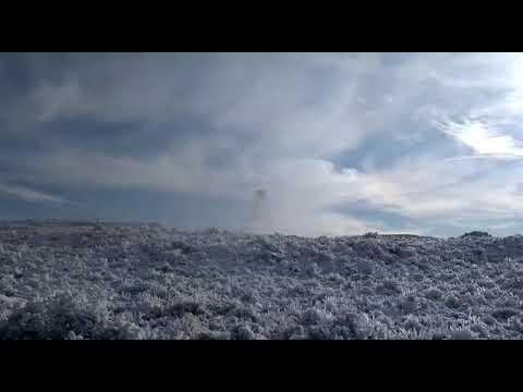 El impactante video de la caída de las torres de alta tensión en Chubut