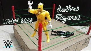 How to make a wwe ring| DIY cardboard wrestling ring for action figures TUTORIAL!