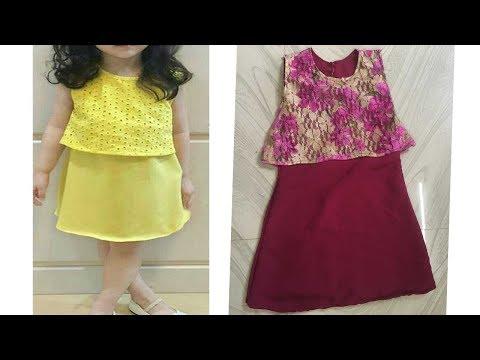 Kids Simple and Stylish dress/ frock cutting and stitching part-2