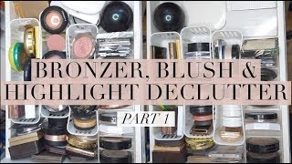DECLUTTERING BRONZERS, BLUSHES, & HIGHLIGHTS: Part 1 | Chelsea Dae