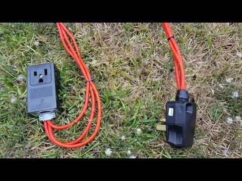 Cheap 220v 100' extention cord.