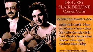 Debussy - Claire de Lune.. Guitar / Guitare (Century's recording : Ida Presti/Alexandre Lagoya)