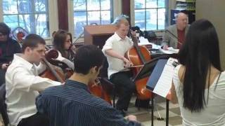 Mather chamber group plays at CPS Solo and Ensemble Contest