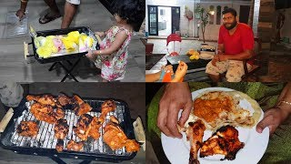 Barbeque at Home - Grilled Chicken and  Garlic Sauce - Prestige Barbeque Review - YUMMY TUMMY VLOG