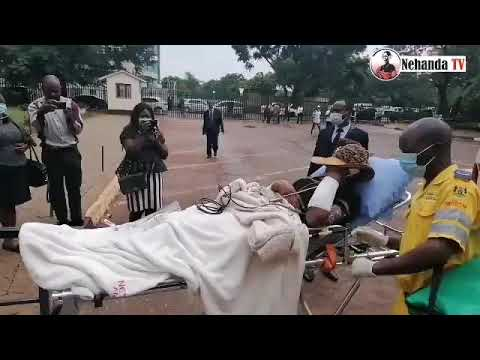 WATCH: Dramatic scenes as Mary Chiwenga arrives at court in ambulance