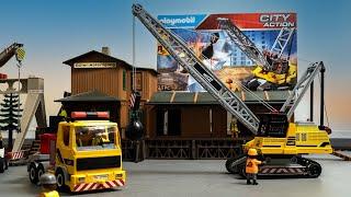 Seilbagger mit Abrissbirne 70442   Playmobil  Baustelle