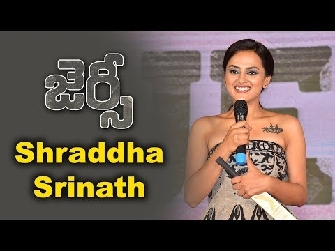 Shraddha Srinath At Jersey Movie Team Success Meet Event