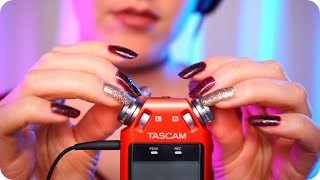 ASMR Tascam Mic Tapping w/ Scratching ✨ Tingly Deep Ear Sounds (No Talking)