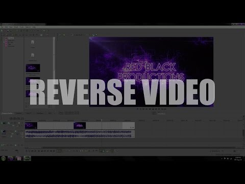 How to reverse a video in Sony Vegas 13