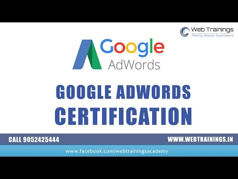How to Get Google Adwords Certification in 2016. Watch AdWords ...