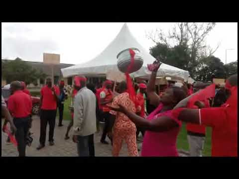 KNUST lecturers demonstrate to protest governing council dissolution, VC removal
