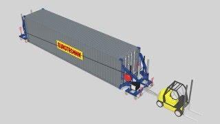 CHT Container Hebesysteme Und Transportieren, Container Side Loader, Container Hebevorrichtung