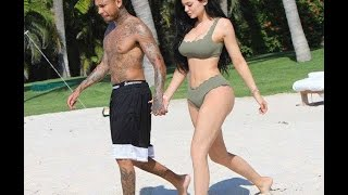 Kylie Jenner And Tyga At Beach Mexico