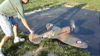 "71"" RC SPITFIRE CRASH WORST IN MY LIFE"