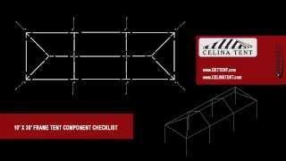 10' X 30' Frame Tent Component Checklist