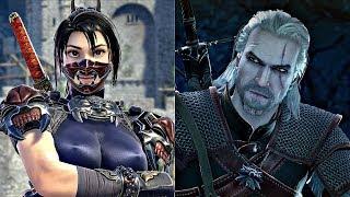 Soul Calibur 6 - Geralt vs Taki Gameplay (1080p 60fps)
