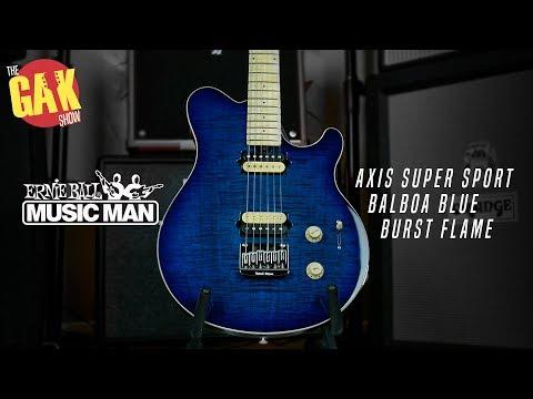 Music Man Axis Super Sport, Balboa Blue Burst Flame