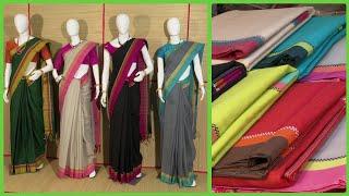 South Indian Special Handloom Cotton Sarees | Samprada Handwoven Jamdani Cotton Sari | Andhra Weaves