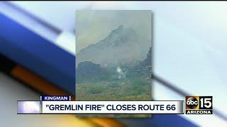 Gremlin Fire sparks near Kingman