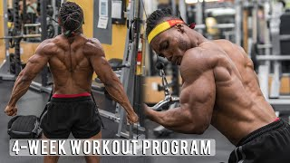 4 WEEK WORKOUT PROGRAM (HOME/GYM EDITION) | SHRED/BULK MEAL PLANS INCLUDED!