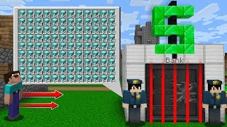 HOW to NOOB a ROBBERY BANK? in Minecraft Noob vs Pro