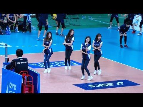 [4K]161209 스텔라(Stellar) 서울 장충체육관 프로배구 V-리그 하프타임 공연 펑펑 울었어 직캠…