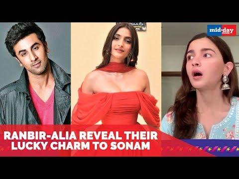 Ranbir Kapoor-Aalia Bhatt Reveal Their Lucky Charm To Sonam Kapoor | The Zoya Factor