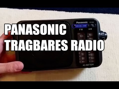 Panasonic RF-2400EG9-K Tragbares Radio schwarz Test