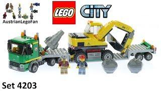 Lego City 4203 Excavator Transporter - Lego Speed Build Review
