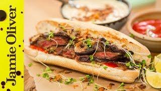 Japanese Steak Sandwich   Food Busker & Brothers Green Eats