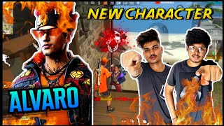 FREE FIRE || PLAYING WITH NEW CHARACTER ALVARO SPECIAL SKILL || BEST ABILITY? - LIVE REACTION