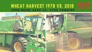 Wheat Harvest 2018: John Deere S780 & John Deere 6600 Combines