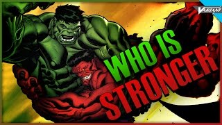 Who's Stronger Red Or Green Hulk?