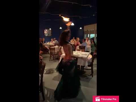 Belly Dance performance at Lebanese restaurant, Leila