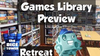 Dice Tower Retreat Library Preview - with Tom Vasel