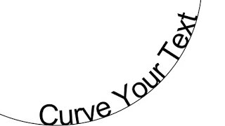 Two Ways to Curve Text with Inkscape