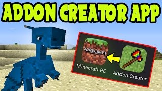 "MCPE ""Addon Creator"" iOS App! How To Make Addon Packs on Minecraft Pocket Edition (ADDON CREATOR)"