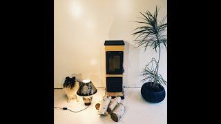 Отопительно варочная печь камин на дровах Bozen - белая ( каминофен ). від компанії House heat - відео 2