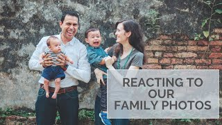 Reacting To Family Photos | Revealing The Results Of Our Large Family Photoshoot With 11 People!