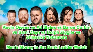 [JT] Money in the Bank 2017 Predictions