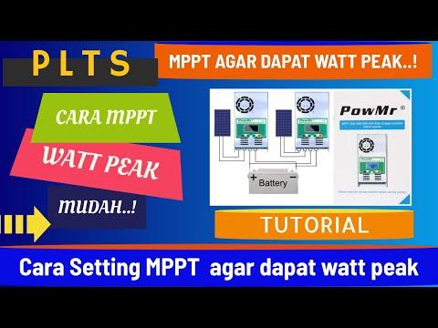 Cara Setting MPPT PowMr agar dapat watt peak