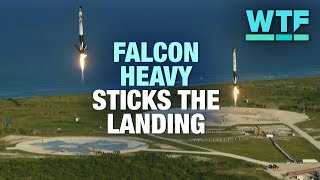 SpaceX Falcon Heavy sticks historic landing | What the Future
