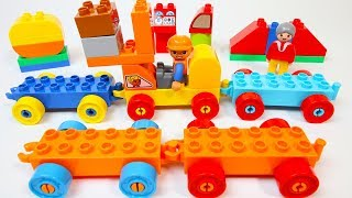 Build and Learn Vehicles with Duplo Building Blocks Toys for Children