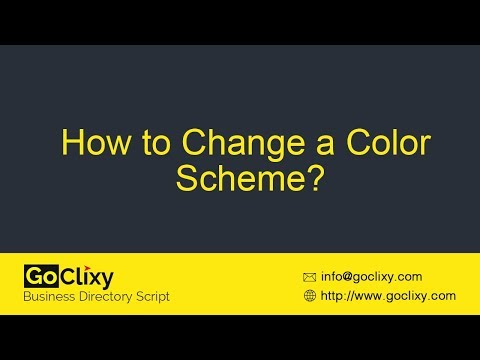 GoClixy - How to Change a Color Scheme?